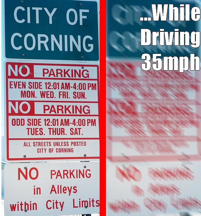Corning's Parking Problem